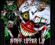"TRAXXAS X-MAXX GRAPHICS WRAP DECALS ""STIFF UPPER LIP"" FITS OEM LEXAN BODY PARTS"