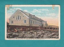 Summit House Mt. Washington White Mountains N.H. Vintage Postcard Printed Restau