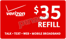 VERIZON REFILL MINUTES $35 CARD ON SALE ONLY $34.89