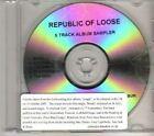 (DE944) Republic Of Loose, 5 Track Album Sampler - 2007 DJ CD