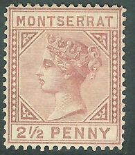 Montserrat 1894 red-brown 2.5d crown CA watermark mint SG9