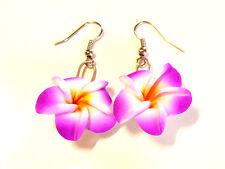 BOUCLES D'OREILLES FLEUR ETHNIQUE FLOWER EARRINGS violet purple