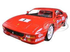 FERRARI F355 CHALLENGE #1 RED 1/24 DIECAST MODEL CAR BY BBURAGO 26306