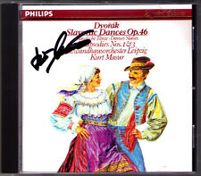 Kurt MASUR Signiert DVORAK Slavonic Dances Op.46 Rhapsody Op.45 No.1 & 3 PDO CD