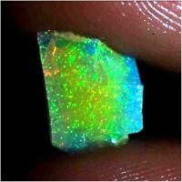 01.50Cts. 100% Natural Welo Fire Ethiopian Opal Multi Fire Opal Rough Gemstone