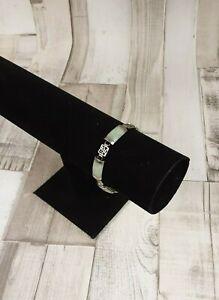925 Sterling Silver & Jade Ladies Bracelet
