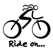 WHITE Bike Sticker Bicycle Sport Biking Bike Cycling Car Window Decal Sign Vinyl
