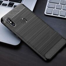 for XIAOMI Mi Max 3 Case Carbon Fibre Cover & Glass Screen Protector