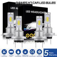 4PCS H7+H7 Combo LED Headlight Kit Bulbs High Low Beam 320W 60000LM 6000K LD2368