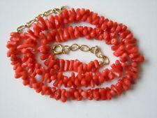 Rote Ast Korallen Kette mit AM Double Verlängerungskette 24,3 g/45 - 48 cm Coral