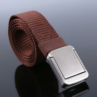 Men's Military Tactical Nylon Waistband Canvas Web Belt Outdoor Sports Buckle