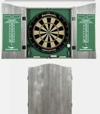New listing Narwhal Kingsbridge Official Size Bristle Dartboard, Cabinet & Steel Darts NEW