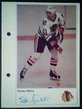 STAN MIKITA  CHICAGO BLACK HAWKS  71/72 TORONTO SUN 5-1/4 X 7 PHOTO CARD