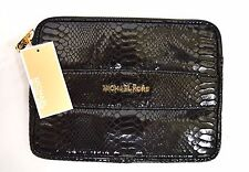NWT MICHAEL Michael Kors Electronics Genuine Embossed Patent leather Clutch