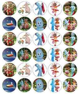 30x In The Night Garden Cupcake Toppers Edible Wafer Paper Fairy Cake Toppers