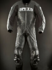 NEW SPEED & STRENGTH TRIPLE CROWN 1 PIECE LEATHER RACE SUIT BLACK ADULT SIZE 46