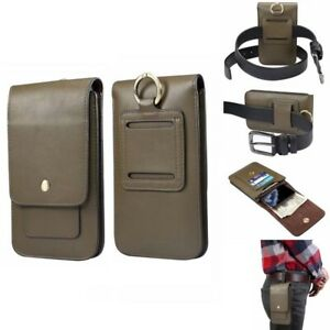 Universal Dual Phone Belt Clip Holster Case Bag for Iphone Samsung Mobile Power