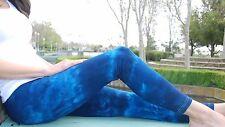 Blue Tie Dye Yoga and Fitness Leggings Cotton/Span Sizes XXS-6XL inc Plus Sizes
