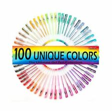 Gel Pens Set of 100 - Metallic, Pastel, Neon, Classic and Glitter Coloring Pack