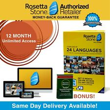 Rosetta Stone® Learn Spanish 12 Month UNLIMITED Complete Course App FREE BONUS