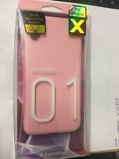 SwitchEasy Numbers TPU Case for iPhone X Xs Baby Pink DR