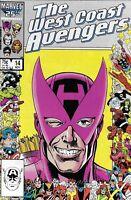 West Coast Avengers Comic 14 Copper Age First Print 1986 Englehart Al Milgrom