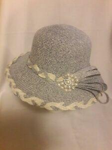 Powder Blue Church Hat Women (HANDMADE)