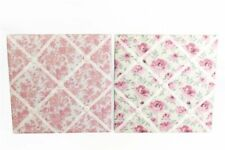 Large Memo Board with English Rose Pattern