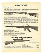 1981 AD COLT 3-BARREL AR-15 GOLDEN EAGLE 7000 W/SPECS H&R 174 LITTLE BIG HORN