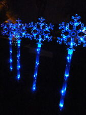 4 PCS 40 LED Blue Snowflake Solar Christmas Garden Lights