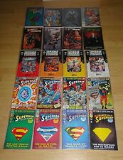 Set of 20 Superman graphic novels/comics (Superman versus Terminator / predator)