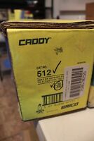 "Erico Caddy 512 Snap On Support Electrical Box-Acoustical Tee-24"" Span Lot of 10"