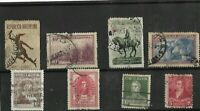 8X  1892- 1945 ARGENTINA STAMPS MOUNTED ON BLACK STOCKARD
