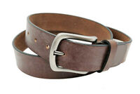 """BROWN FULL GRAIN Buffalo Leather Mens 1.5"""" Belt Strap Buckle Casual Jeans"""