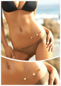 Women Waist Chain Belly Bikini Body Jewelry Rhinestone Back Chain Beach Harness