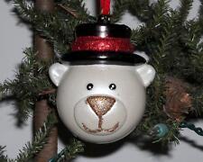 POLAR BEAR Christmas Ornament ...great condition                     ...Lot 15