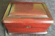 Antique Poker Set with Chips and Mahogany Case - 1/2 are Composite,1/2 are Wood