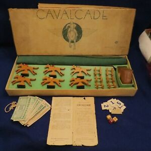 Vintage Selchow & Righter Co. Cavalcade No. 55 Classic Horse Racing Race Game
