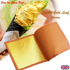 Edible Gold Leaf Genuine Edible Gold Cake Toppers EU175 Approved Food Decoration