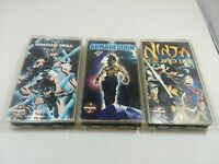 3 Anime VHS Lot Manga Video Shadow Skrill Armageddon Ninja Scroll English Dubbed