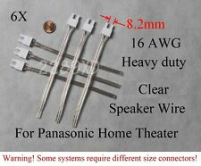 6 speaker cable/wire connectors 16AWG 8.2mm Heavy Duty made for old Panasonic HT
