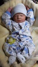 Reborn Baby Boy Clyde Asleep by Denise Pratt Lifelike Realistic Doll Realborn