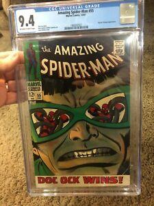 Spider-man # 55 - CGC 9.4 Silver Age Spiderman Marvel Beauty - Romita & Stan Lee