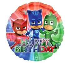 "18""  FOIL BALLOON BIRTHDAY PARTY - PJ MASKS - PARTY - UK SELLER - HAPPY BIRTHDAY"