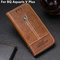 For BQ Aquaris V Plus Phone Case Flip PU Leather Cover Book Stand Wallet CARD