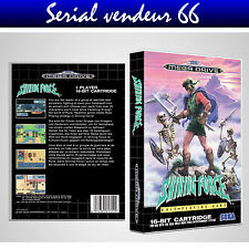 """BOX, CASE """"SHINING FORCE"""". MEGADRIVE. BOX + COVER PRINTED. NO GAME. MULTILINGUAL"""