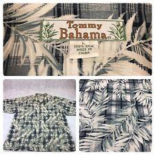 Men's Tommy Bahama Hawaiian Shirt Short Sleeve 100% Silk Button Size Large