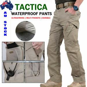 AU Soldier Tactical Waterproof Pants Men Cargo Work Trousers Combat Outdoor Pant