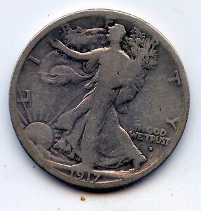 Walking Liberty half 1917-s obverse (SEE PROMO)