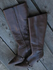 Audrey Brooke Women's Boots- Shoes Size 9.5M Brown Leather Made in Brazil